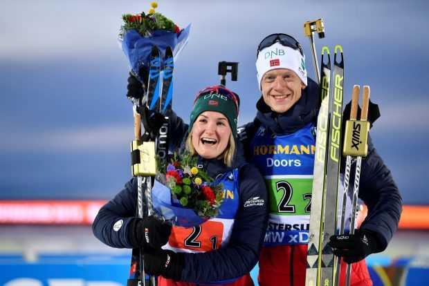 Норвежците с титлата в смесената щафета по биатлон, българите 19-ти