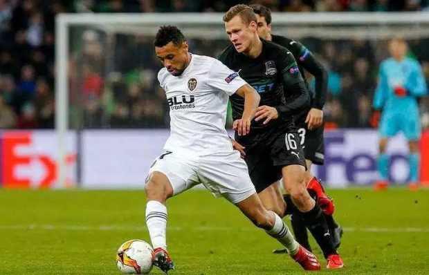 Валенсия се класира за четвъртфиналите в Лига Европа с гол в 93-тата минута – 1:1 срещу Краснодар