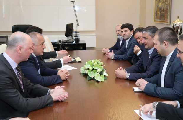 Премиерът Бойко Борисов се срещна с министъра на пътищата и градоустройството на Иран