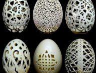 Полякиня декорира черупки от яйца със зъболекарска машинка