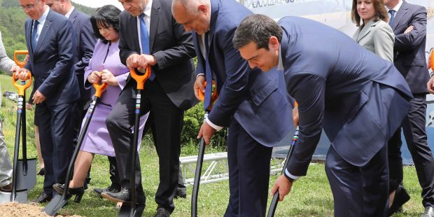 Борисов и Ципрас направиха първа копка на газовата връзка между България и Гърция
