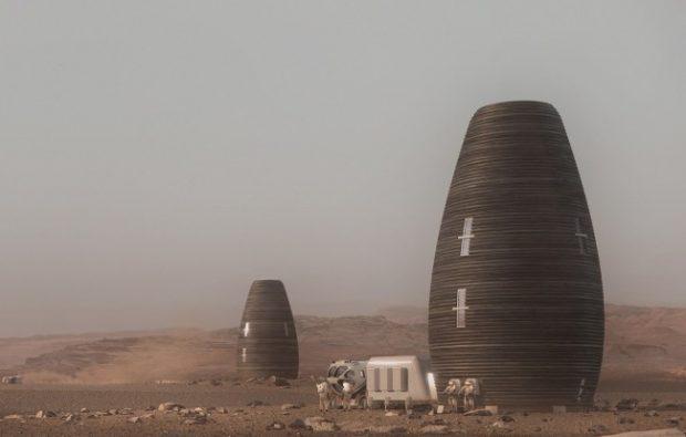 Принтиран на 3D принтер хабитат за живот на Марс спечели награда на НАСА
