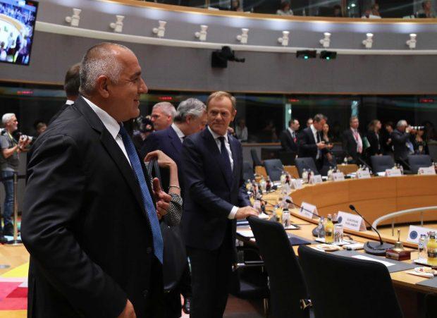 Премиерът Борисов участва в срещата на върха на ЕС в Брюксел