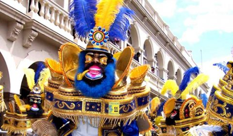 Ярки цветове и много музика на традиционен фестивал в Боливия