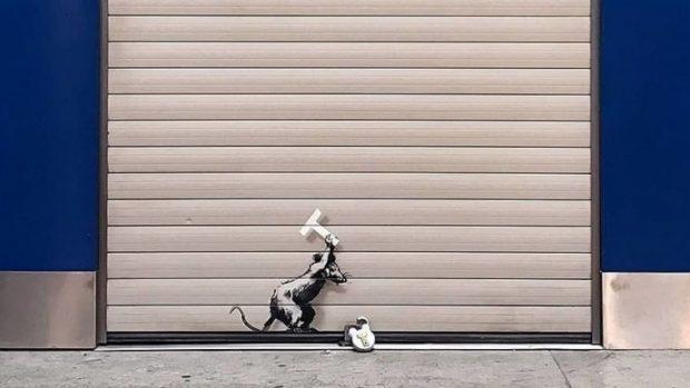 Нова провокация на популярния британски стрийт художник Банкси