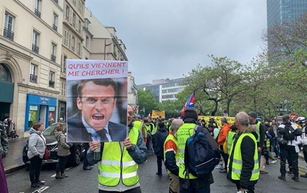 """31-а поредна седмица на протести на """"жълтите жилетки"""" в Париж"""