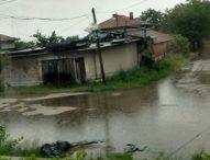 Порой наводни улици и дворове в раковското село Белозем