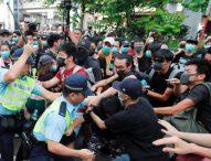 Сблъсъци белязаха протеста в Хонконг