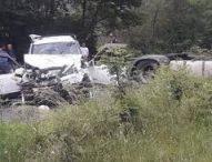 Двама загинали и двама пострадали при тежка катастрофа между кола и ТИР