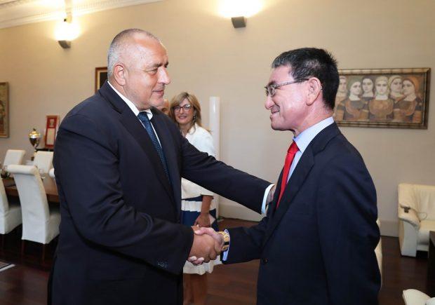 Премиерът Бойко Борисов се срещна с външния министър на Япония Таро Коно