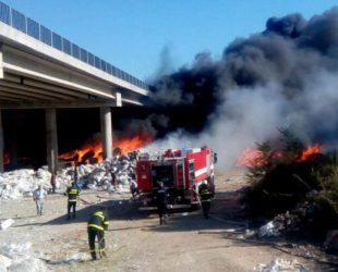 След пожара: Пускат за движение едното платно на АМ Струма в посока Кулата