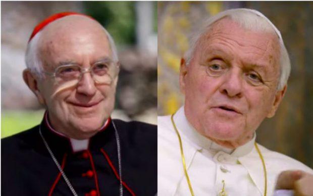 """Филмът """"Двама папи"""" разказва за отношенията между Бенедикт XVI и Франциск"""