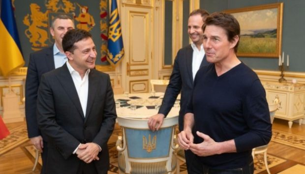Том Крус се срещна със Зеленски в Киев