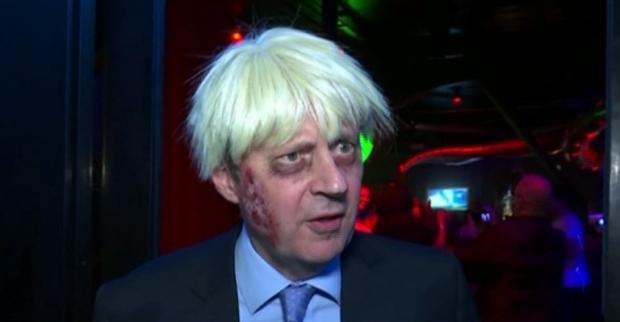 """Борис Джонсън """"излезе от канавката"""" за Хелоуин"""
