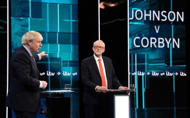Първи телевизионен дебат между Борис Джонсън и Джереми Корбин
