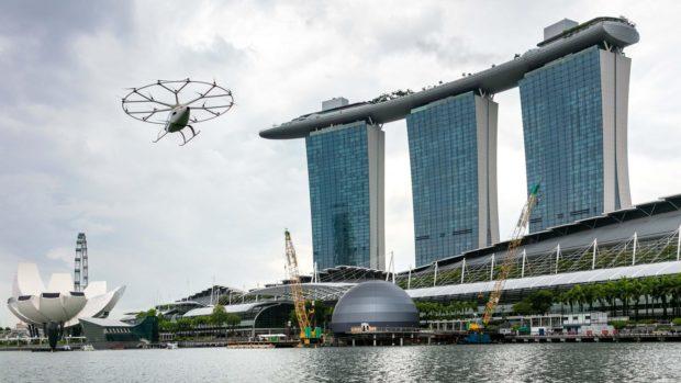 Въздушно такси на германска компания направи успешен тестови полет в Сингапур