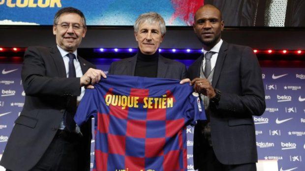 Барселона представи официално новия си наставник Кике Сетиен