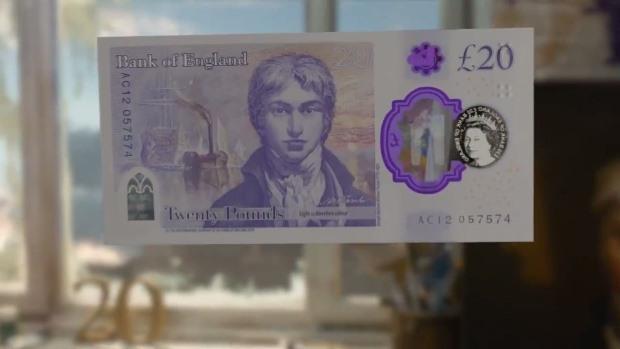 Влезе в обращение новата британска банкнота от 20 паунда