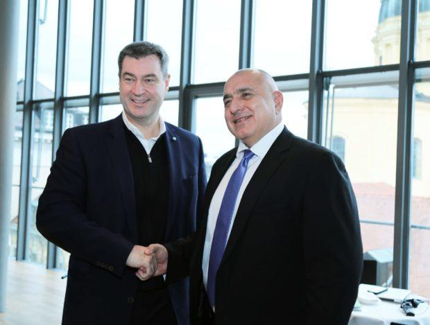 Премиерите Бойко Борисов и Маркус Зьодер обсъдиха засилване на потенциала на сътрудничество между България и Бавария