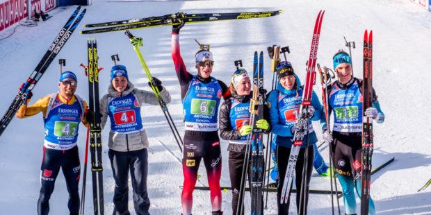 Франция при мъжете и Норвегия при жените спечелиха щафетите на световното по биатлон