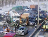 Тежка верижна катастрофа с близо 200 превозни средства край Монреал взе жертви