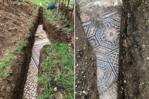 Откриха изключително добре запазена римска мозайка под лозе в Северна Италия