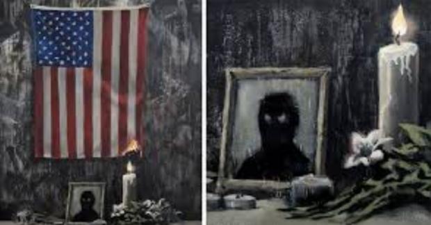 Банкси показа нова творба, посветена на протестите заради убийството на Джордж Флойд
