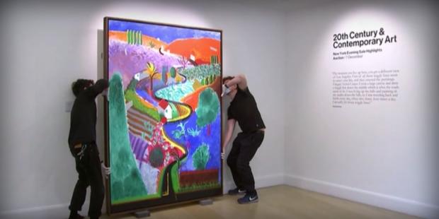 Шедьовър на Дейвид Хокни, оценен на 35 милиона долара, бе показан в Лондон