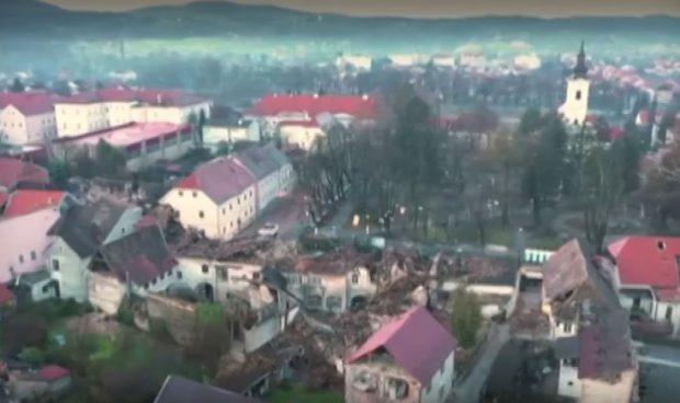Ново земетресение в Хърватия отвори големи дупки в земята
