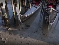 Необичайно ниските приливи оставиха каналите във Венеция почти без вода