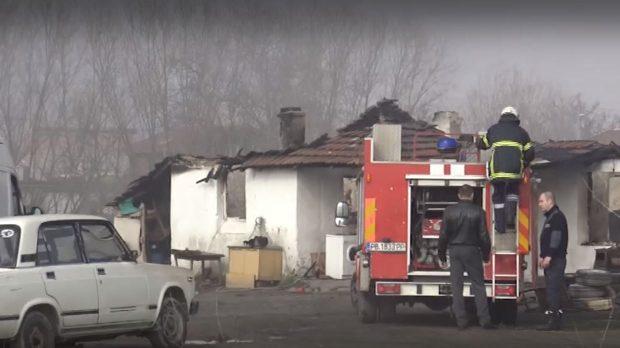 Голям пожар избухна в пловдивското село Труд
