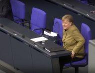 Ангела Меркел забрави да сложи предпазна маска