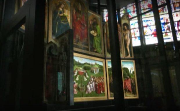 Шедьовър на фламандското изкуство е изложен в нов параклис в катедралата в Гент