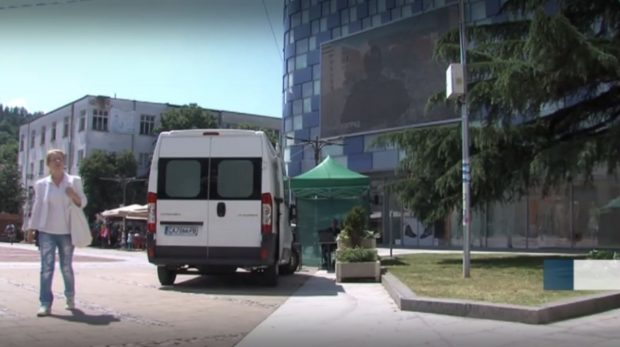 Мобилен пунк за ваксинация откриха в центъра на Благоевград