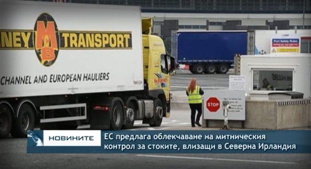 ЕС предлага облекчаване на митническия контрол за стоките, влизащи в Северна Ирландия